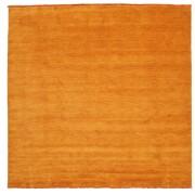RugVista Handloom fringes - Orange matta 250x250 Modern, Kvadratisk Matta