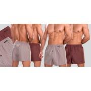 Schiesser Woven Boxershort 2-Pack 947-Multi Rood (151)-M