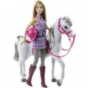 Jucarie - Papusa Barbie Cu Calut Mattel BRB Horse And Doll DHB68