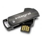 Stick USB Integral Secure 360, 8GB, USB 2.0, AES 256-bit (Negru)