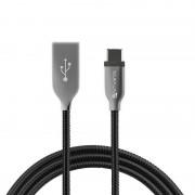4Smarts FERRUMCord FlipPlug typ C USB data kabel kabel 50 cm USB laddning kabel svart typ C
