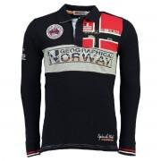 GEOGRAPHICAL NORWAY Poloshirt mit langen Ärmeln, Pikee