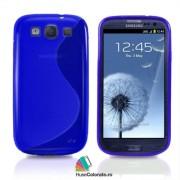 Husa Samsung i9300 Galaxy S3 Silicon Gel Tpu S-Line Albastra