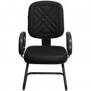 Cadeira Fixa para Recepções e Igrejas Diretor Preta - Pethiflex