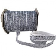 De-Ultimate Multi-Purpose Silver Glitter Ribbon for Party Decoration Gift Box Wrapping Art and Crafts With 18 Mtr Roll