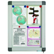 Avizier interior/exterior Recto, tabla alba magnetica, 9 x A4, 90 x 63 cm, SMIT