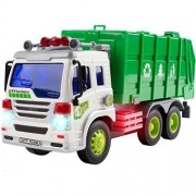 CifToys Friction Powered Car Garbage Truck Toy for Toddlers | Cool Trash Truck Game for Toddlers, 3+|Big, With Lights and Sound Effects | Kids' Rubbish Collection Push and Go Toy