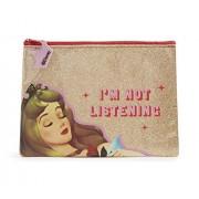 Disney Astuccio portapenne principesse Disney - Astuccio glitter oro Principessa Aurora - dimensione 20 x 15 cm
