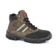 EMMA NESTOR Veiligheidsschoenen Hoge Werkschoenen S3 - Bruin/Zwart - Size: 44