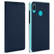 Avizar Flip Book Cover Funda Cartera Azul Oscuro para Huawei P Smart 2019