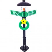 MinifigurePacks: Lego City/Town STREET SIGN - LAMP POST Intersection of MOC & Front
