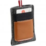 """Xcase Hochwertige Filz-Tasche mit Aussentasche für Smartphones bis 3.5"""""""