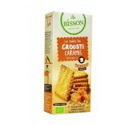 Biscuiti crocanti caramel BIO 118g Bisson