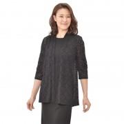 Nina Leonard 七分袖レースニットカーディガン【QVC】40代・50代レディースファッション