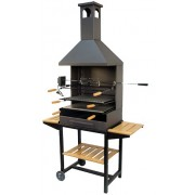 71555 Barbacoa chimenea con ruedas kit pollo
