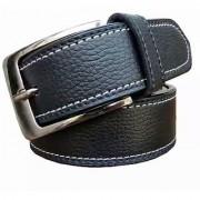Mens Formal Belt Black color two side stitching at best price