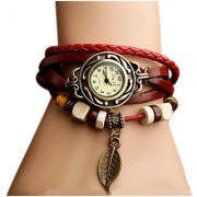 i DIVA'S LIFE Bracelet Leather Strap Analog Watch - Women