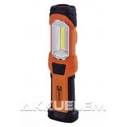 Szerelőlámpa 3W COB + 1W LED 280lm, IPX4 vízálló P4111