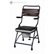 Összecsukható, hordozható Szobai WC felhajtható karfával -kárpitozott, székként is használható