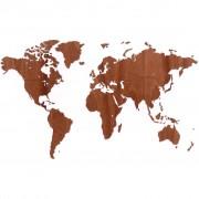 MiMi Innovations Карта на света стена дърво Exclusive сапели 130x78 см