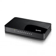 "ZyXEL GS-108S, 8-port 10/100/1000Mbps Gigabit Ethernet switch, 3 QoS ports (1port ""High"", 2ports ""Middle""), 802.3az"