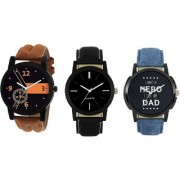 AKAG Buy Online Combo Offer Multicolored dial Analogue Watch For Boys And Mens - AK-BN-BK-DD-01