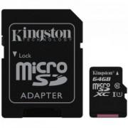 Kartica Kingston MicroSDXC 64GB Class 10 + SD Adapter (SDC10G2/64GB)