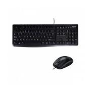 Kit de Teclado y Mouse Logitech MK120, Alámbrico, USB, Negro