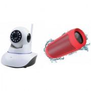 Zemini Wifi CCTV Camera and Charge 2 Bluetooth Speaker for SONY xperia z5 dual(Wifi CCTV Camera with night vision |Charge 2 Plus Bluetooth Speaker)