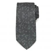 Klasszikus grafitszürke nyakkendő levélmintával 9791