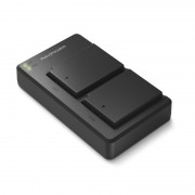 RAVPOWER 2x 1000mAh Replacement Batteries for Canon LP-E10 with Charger Set Black