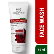 Beloved Bliss Rose Radiance Face wash with Natural Rose Extracts for Radiant Smooth Skin SLS Paraben Free 50 ml