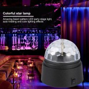 EH Mini bola de cristal lámpara de proyección de luz colorida estrella
