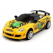 Saffire Remote Control Porsche Carrera Gt Graffiti Drift Car, Yellow