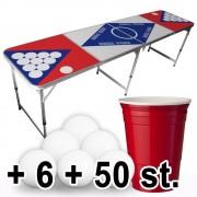 StudyShop Billigt Beer Pong Set inkl. muggar och bollar