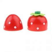 Kawn Kids Pretend Play Simulation Sticky Strawberry Fruits Kitchen Food Playing Role Play Game Toys