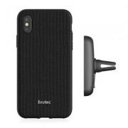Evutec Aergo Ballistic Nylon Funda + Soporte manos libres iPhone X Negro