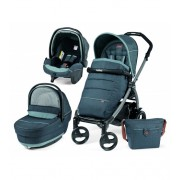 Carucior 3 in 1 Peg Perego Book Plus 51 Black Completo SL Blue Denim