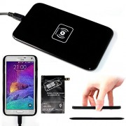 Wireless Charger Kit, AYAMAYA Qi Wireless Charger Charging Pad (Black) + Receiver for Samsung Galaxy S5 qi Wireless Charger Accept Coil