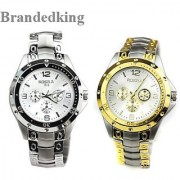 Holi special Offer combo Rosara watches for Men (Golden +silver ) by 7star 6 month warranty