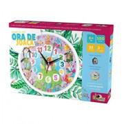 Puzzle cu ceas Ora de joaca - Animale, 100 piese