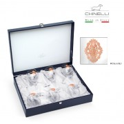 Set 6 Pahare Vin Arabesque Pink Gold Plated by Chinelli made in Italy