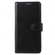 Huawei P10 Textured Wallet Case - Black
