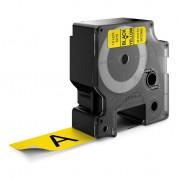 Dymo Standard D1 Tejp 24mm Svart på gul