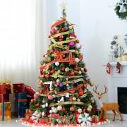 HOMCOM® Weihnachtsbaum 180cm Tannenbaum 200 LEDs 616 Spitzen