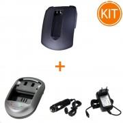 Kit Incarcator Power3000 pentru acumulator Canon tip NB-9L + Bonus adaptor auto