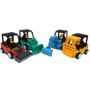 Emob Pack of 4 Push and Go Engineering Vehicle Construction Toy Set for Kids (Multicolor)