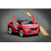 Baybee BMW I-8 battery operated car with Remote control (Red)