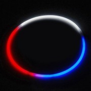 24 Lumistick Glow Stick Necklaces Tri-Color Red White and Blue (50 necklaces)