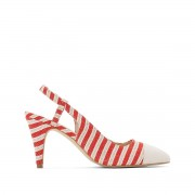 Anne Weyburn Sapatos abertos às riscasnatural/vermelho- 37